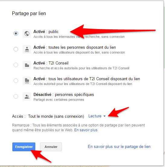 mode de partage google apps