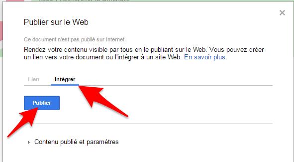 Google apps partage integre